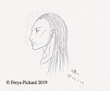 Pencil sketch of Otta by Freya Pickard