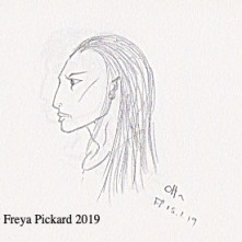 Pencil sketch of Otta by Freya Pickard